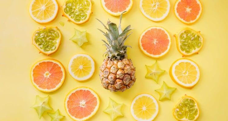 vitamin c pineapple orange lemon