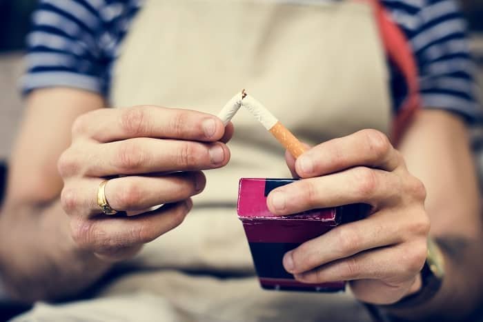 chnaged lifestyle to no smoking