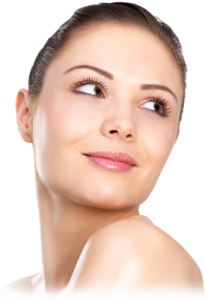 A girl with smooth face