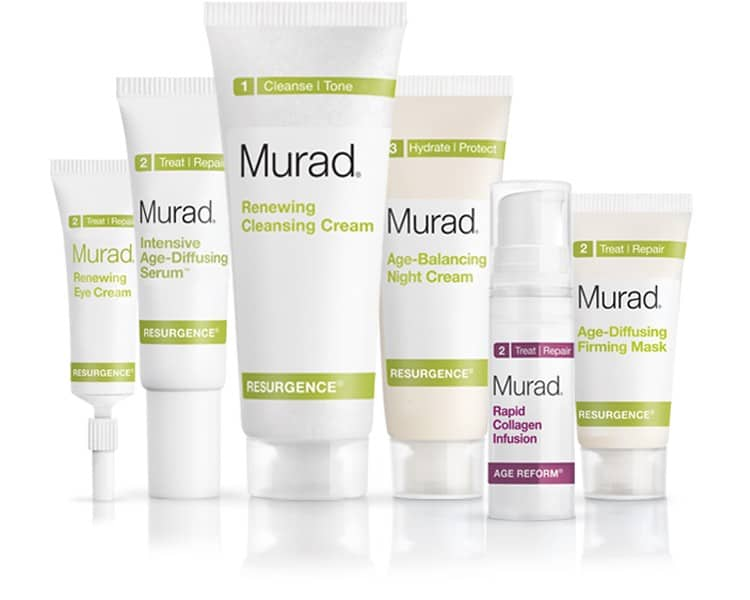 Products in our Murad Resurgence Review
