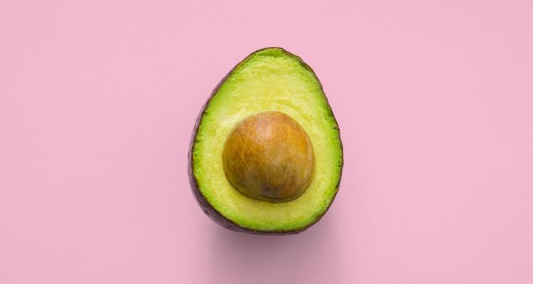 half avocado with core