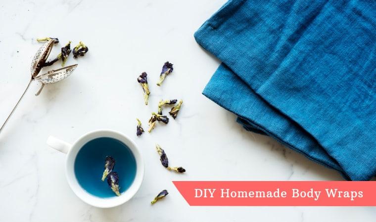 blue towel and blue tea