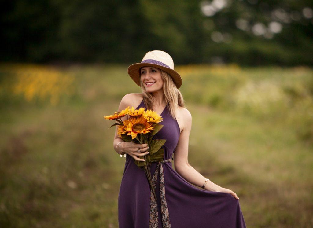 lady in purple dress